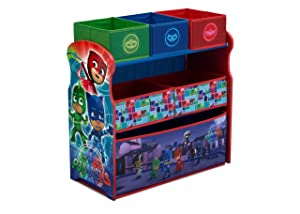 Delta Children 6-Bin Toy Storage Organizer, PJ Masks