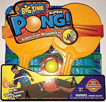 Big Time Super Pong Juego de Tenis de Mesa portátil – Incluye Palas de Ping Pong, Bola y Red – fácil configuración: Amazon.es: Juguetes y juegos