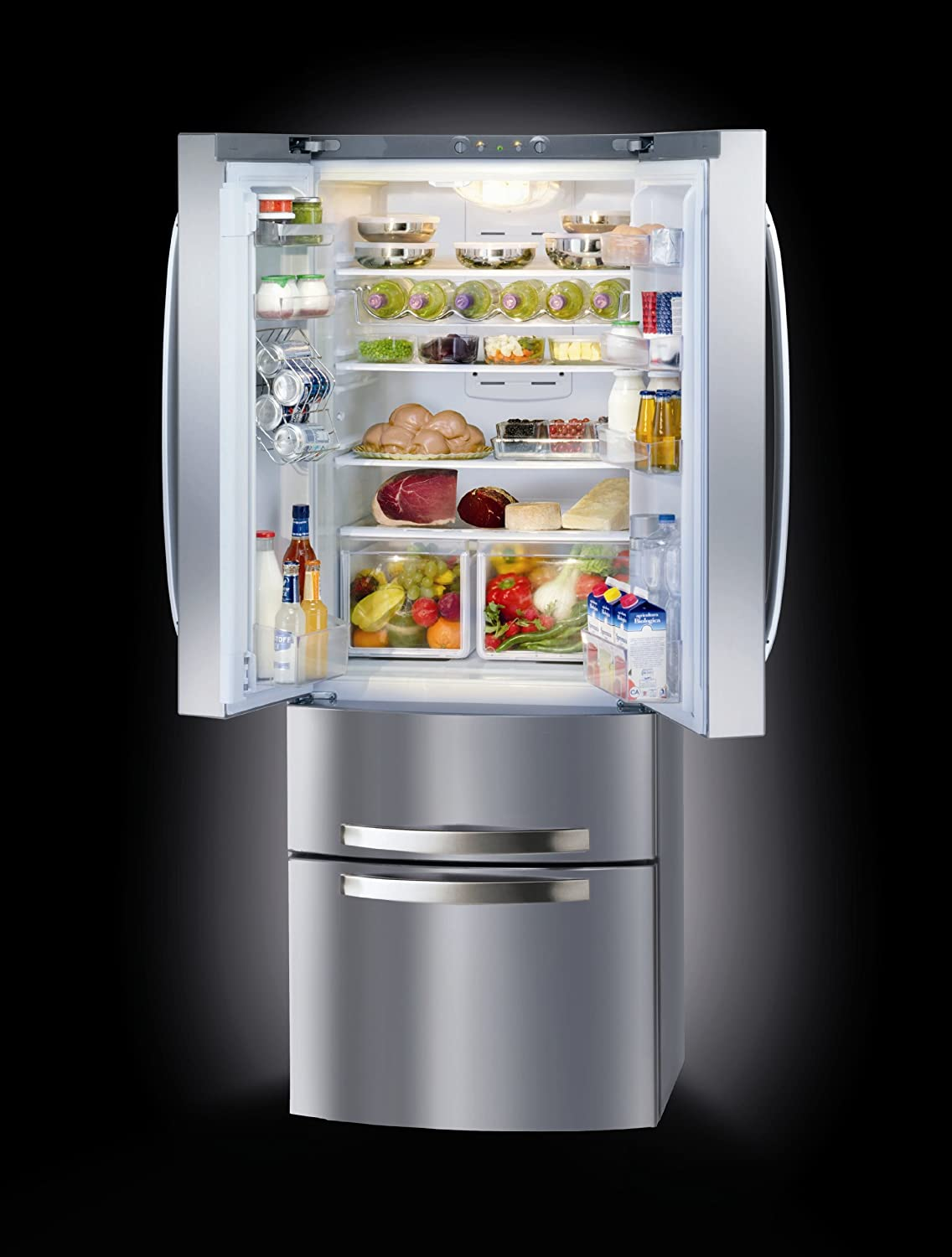 Hotpoint Ariston Fridge-4Porte 410Lt Cl.A Nofrost Steel: Amazon.co ...