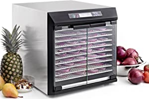 Excalibur EXC10EL Electric Food Dehydrator NSF Approved with Digital Controller Features 99-Hour Timer with Adjustable Time and Temperature Auto Shut Off Made in USA, 10-Tray, Silver