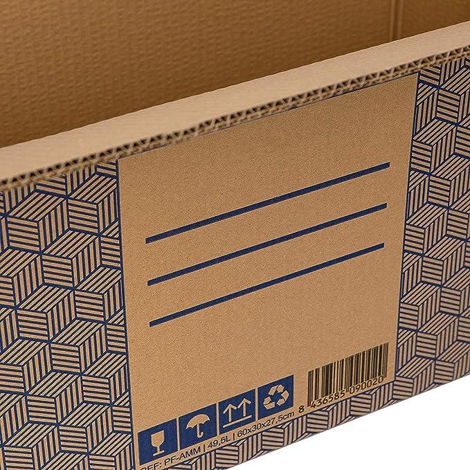 Pack 10 Cajas Carton Mudanza y Almacenaje XL Ultra Resistentes con Asas, 100% ECO Box   Packer PRO: Amazon.es: Oficina y papelería