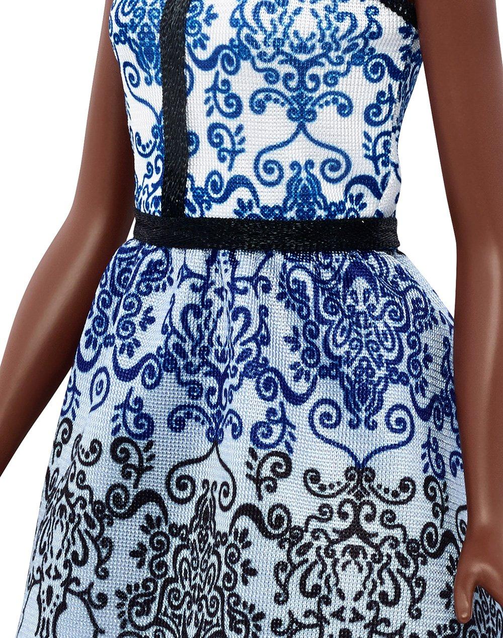 Barbie Fashionistas - Muñeca, brocado azul (Mattel DMF27): Amazon.es: Juguetes y juegos