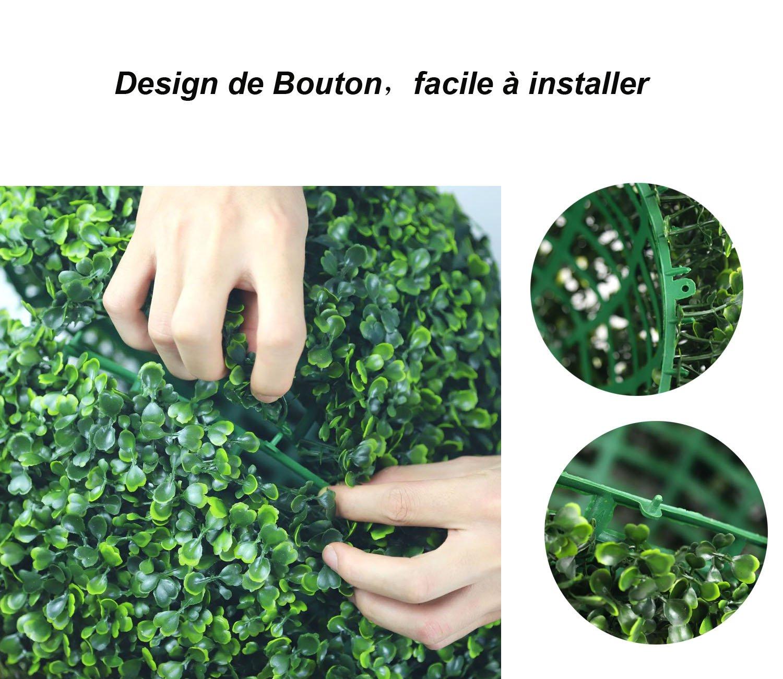 Seasofbeauty Buis Boule de Buis Plante Artificielle Boule dherbe D/écoration Maison Mariage 20 cm