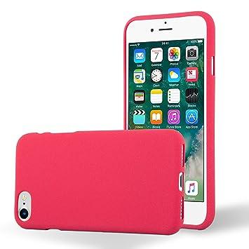 Cadorabo Funda para Apple iPhone 7 / iPhone 7S / iPhone 8 en Frost Rojo - Cubierta Proteccíon de Silicona TPU Delgada e Flexible con Antichoque - Gel ...