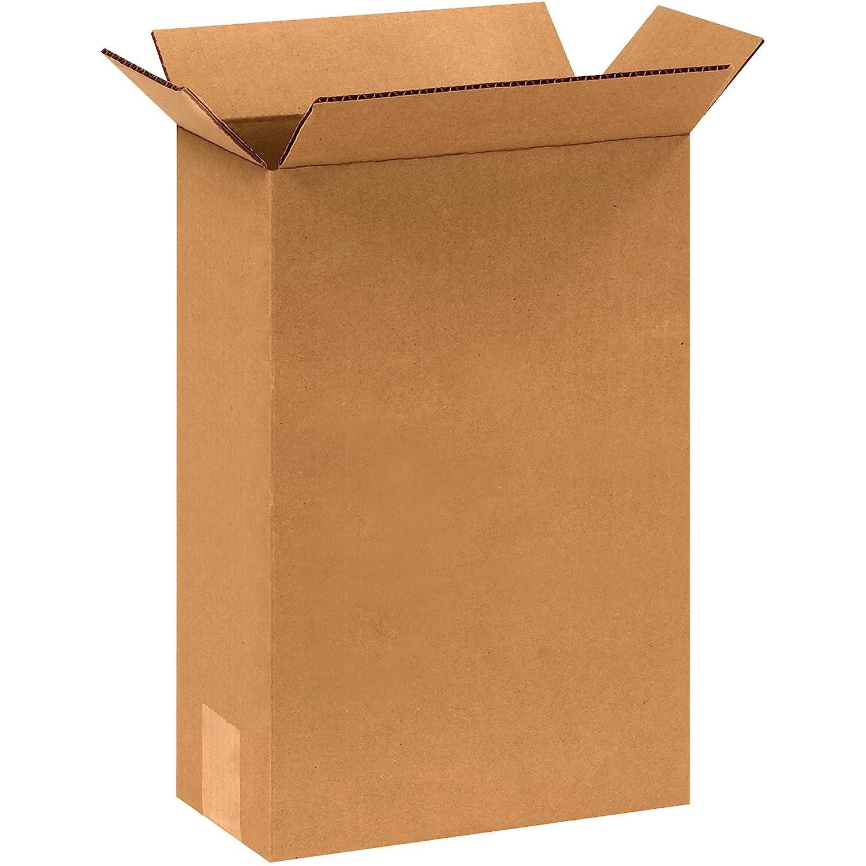 8L x 4W x 12H BOX USA BP8412 Corrugated Boxes Kraft Pack of 25