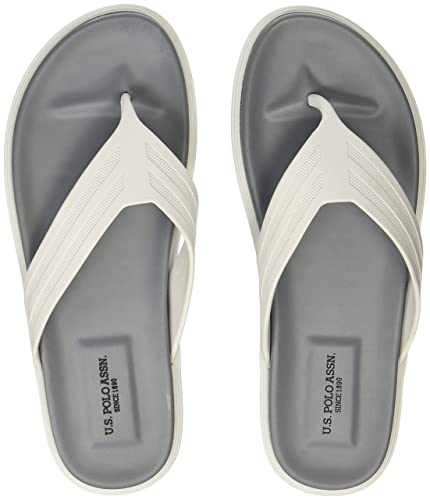 26410753e673 US Polo Association Men s Latvian Off White Hawaii Thong Sandals-10 UK India  (
