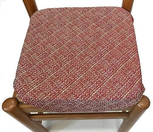 Muro - Juego de 6 Cojines para sillas de Cocina, con Solapas ...