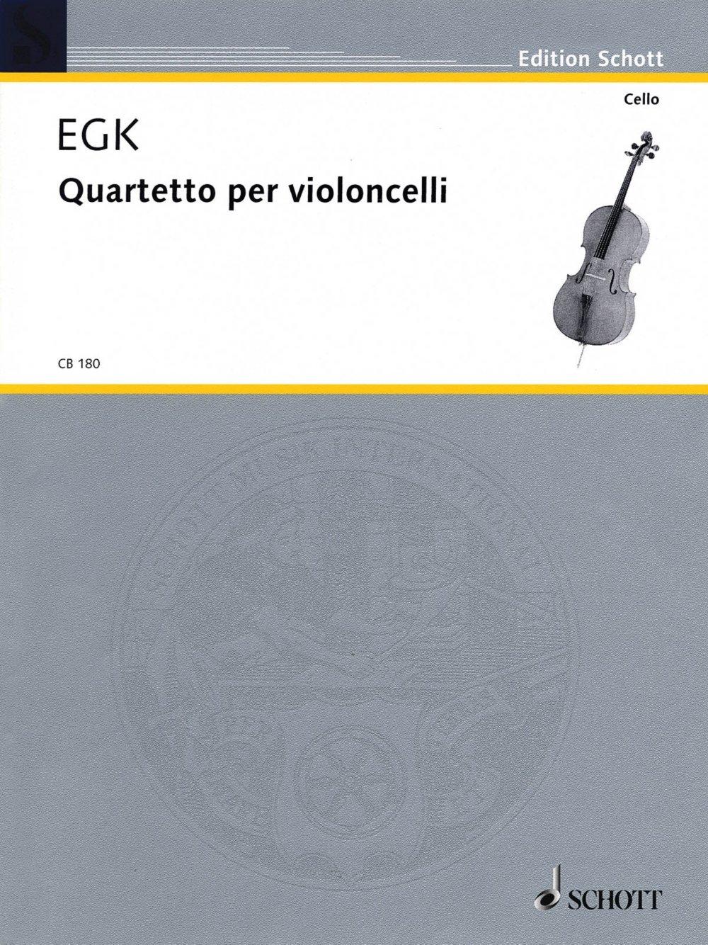 Schott Quartet for Violoncellos Schott Series Composed by Werner Egk pdf