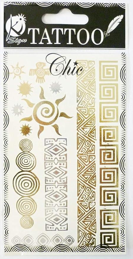 Ki-Sign Tatoo Chic - Tatuaje temporal, diseño de elefantes: Amazon ...