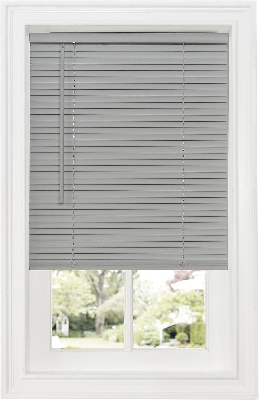 "Achim Home Furnishings DSG235GY06 Cordless GII Deluxe Sundown 1"" Room Darkening Mini Blind, Grey, 35"" x 64"""