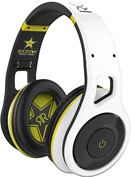 SCOSCHE Reference Grade Rockstar Edition Wireless Bluetooth Over-Ear Foldable Lightweight Headphones with Included Carrying