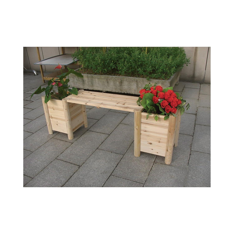 Amazon.com : Cedar/Fir Bench With Side Planters   Natural Cedar/Fir  (Cunninghamia Lanceolata), Model# CSN CPB 07 : Outdoor Benches : Garden U0026  Outdoor