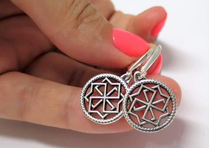 Amazon com: Molvinets earrings for woman sterling silver amulet