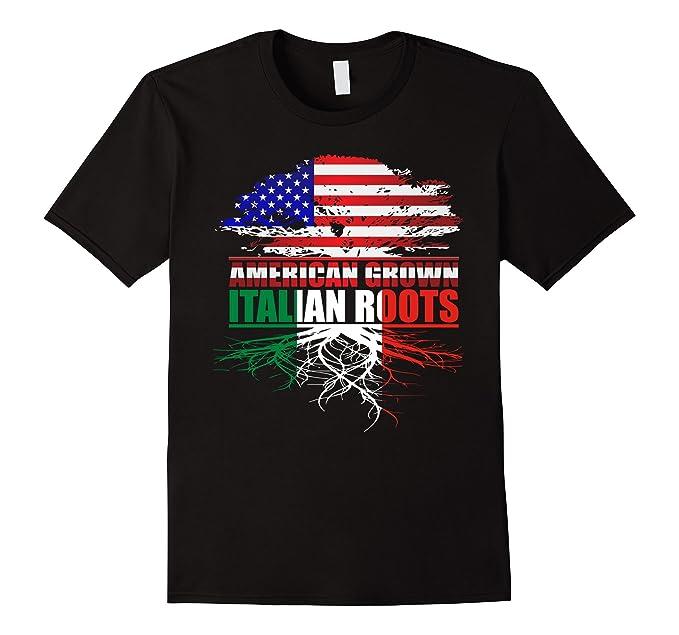 Americano Cresciuto Con Radici Italiane Maglietta mXFosBujdX