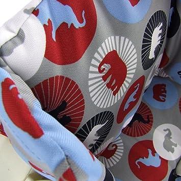 grau bunte Blumen Kissen-Set f/ür Hochstuhl//Kinderstuhl Stokke Tripp Trapp RUND BAMBINIWELT Ersatzbezug Sitzverkleinerer Design