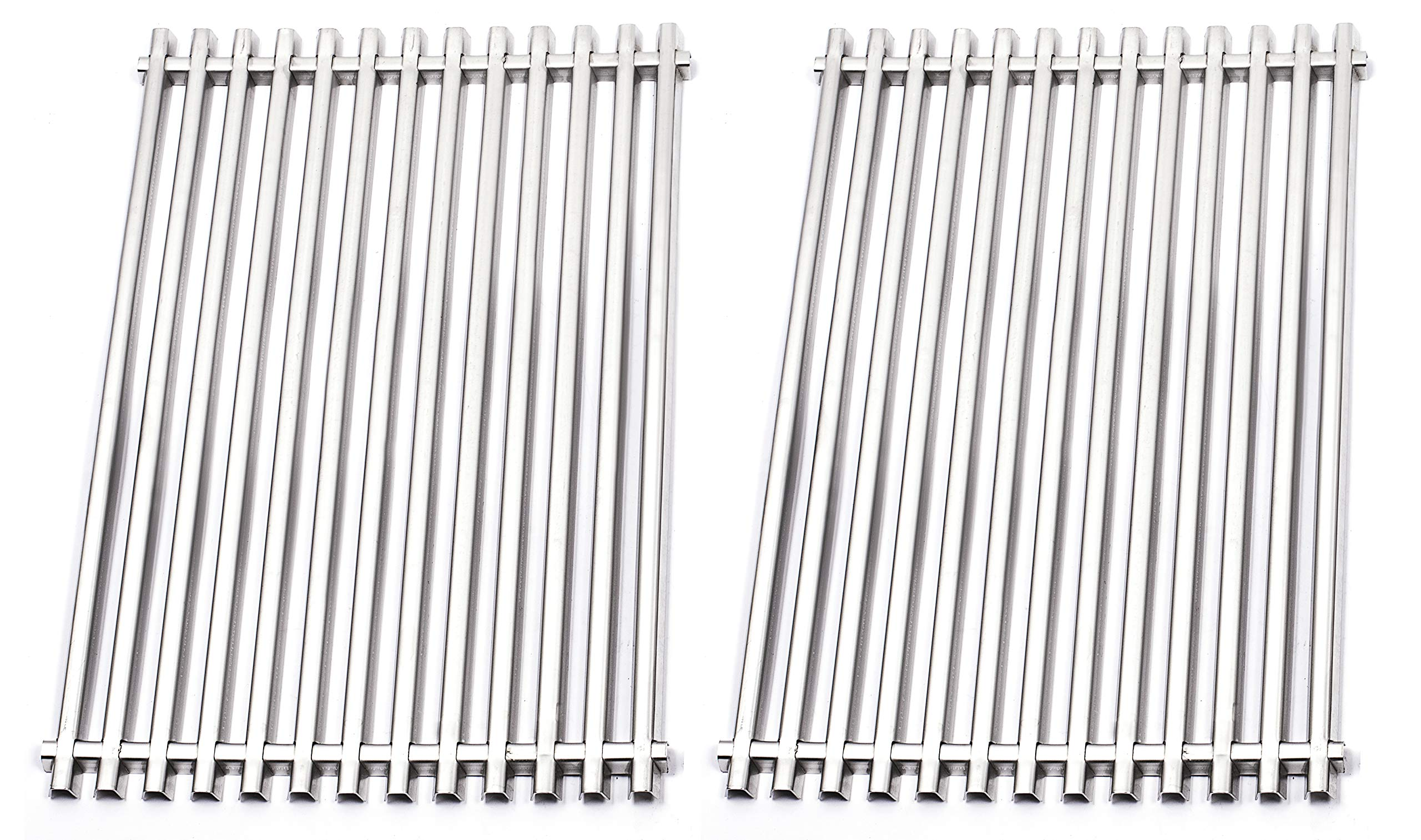 Broilmann BBQ Barbecue Replacement Stainless Steel Cooking Grates for Weber 7527, 9869 7526 7525 Spirit Genesis Grills, Lowes Model Grills by Broilmann