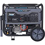 Pulsar G12KBN-SG Heavy Duty Portable Dual Fuel Generator - 9500 Rated Watts & 12000 Peak Watts - Gas & LPG - Electric Start -