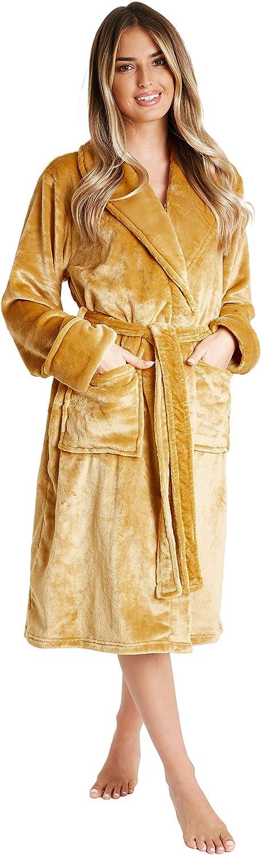 CityComfort Bademantel Damen Bequem Spa Kimono Geschenke f/ür Frauen Baumwolle Bademantel mit Kapuze und Taschen Morgenmantel Saunamantel Damen