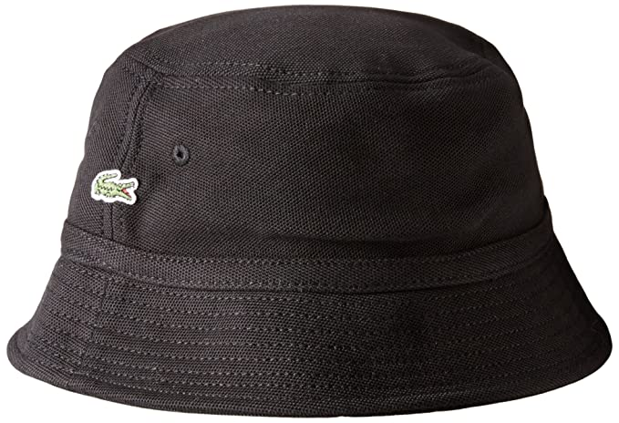 aa675072406 Lacoste Men s Cotton Pique Bucket Hat at Amazon Men s Clothing store