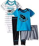 Gerber Baby-Boys 4-Piece Shirt, Bodysuit, Short and Pant Pants Set