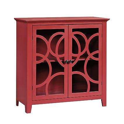 Sauder 416840 Display Cabinet, Plum Red