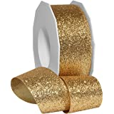 Morex 丝带 98509/25-634 金属公主闪光灯,3.81 厘米 x 63.5 厘米,金色
