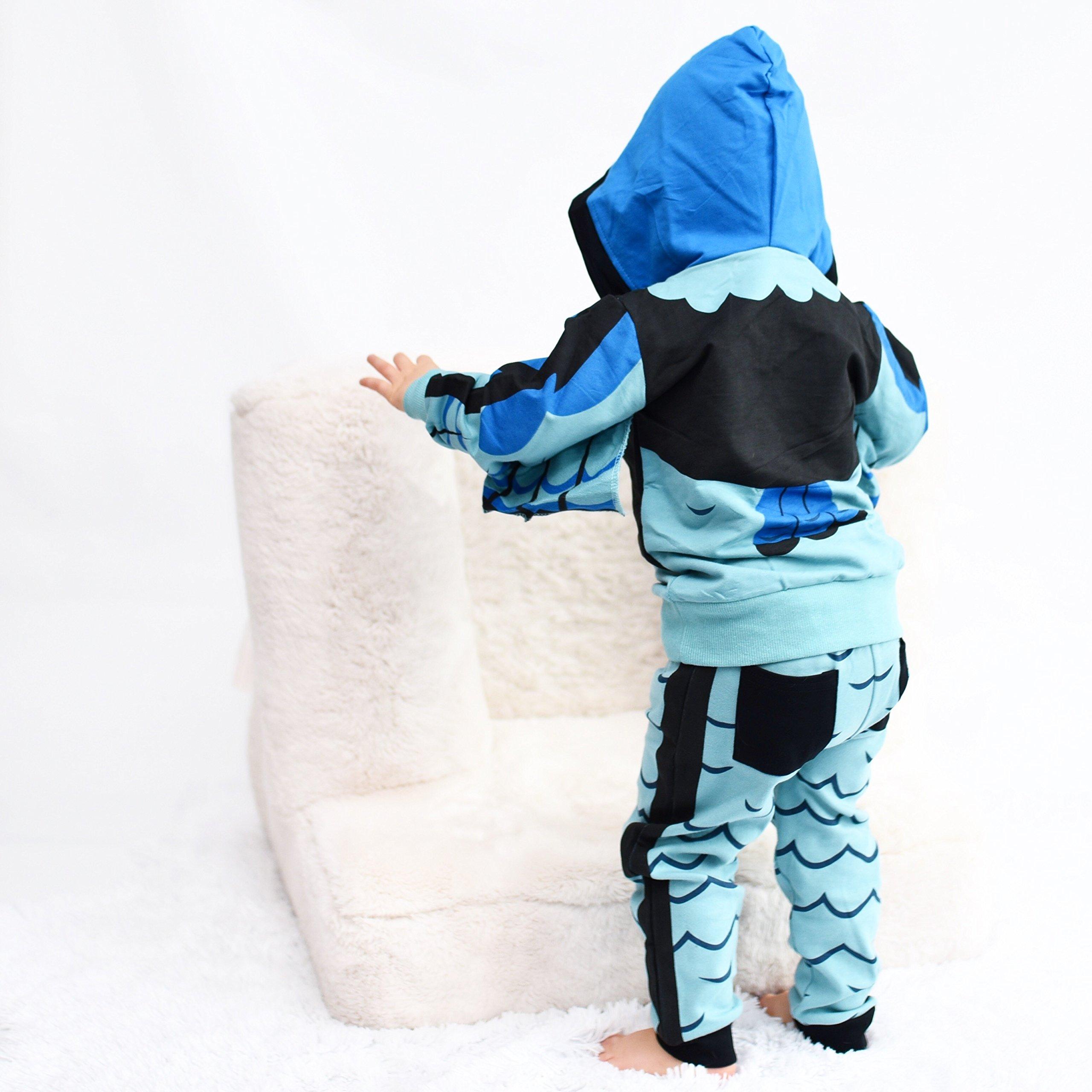 Doodle Pants Boys' Wild Kratts Falcon Creature Power Suite Hoodie 2T Blue