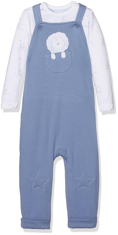 Mothercare Little Lion, Salopette Bébé Garçon Bleu (Blue 128) Up to 3 Months MA514