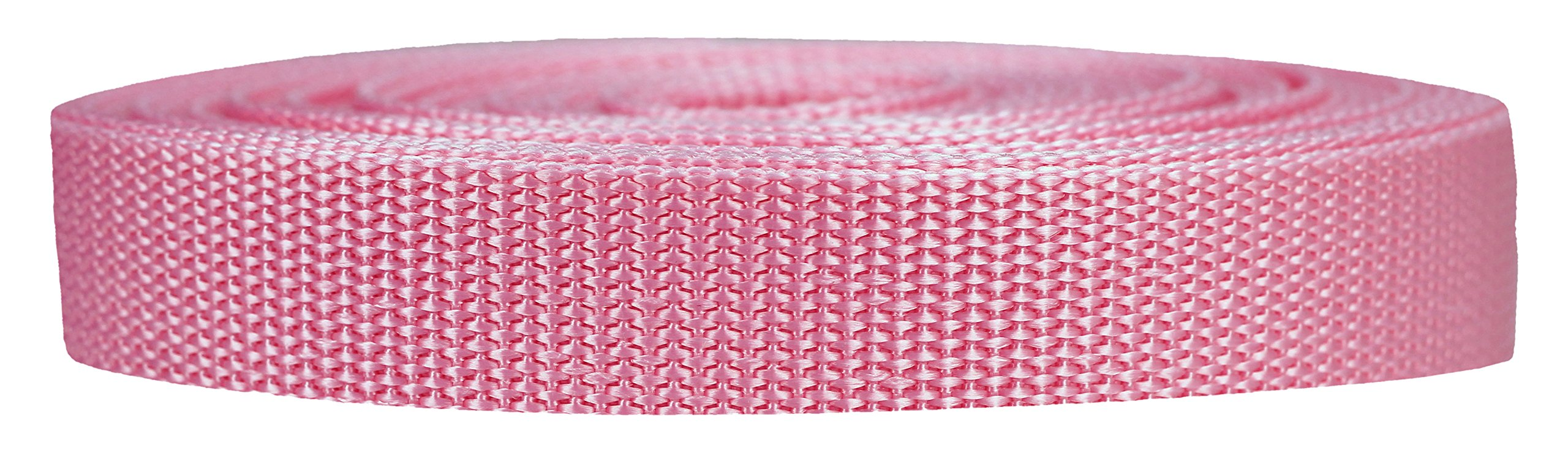 Strapworks Heavyweight Polypropylene Webbing - Heavy Duty Poly Strapping for Outdoor DIY Gear Repair, 3/4 Inch x 25 Yards, Pink by Strapworks
