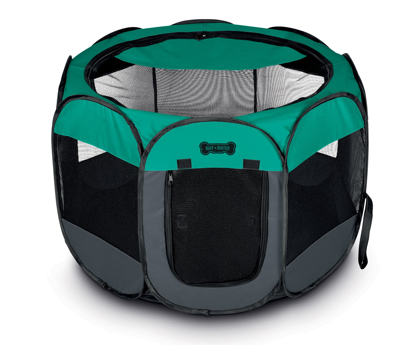 Ruff 'n Ruffus Portable Foldable Pet Playpen with Carrying Case & Collapsible Travel Bowl | Indoor / Outdoor use | Water resistant | Removable shade cover | Dogs / Cats / Rabbit | Available In 2 Sizes by Unleashed (Image #2)