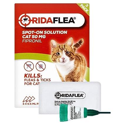 Ridaflea Pipetas de aplicación Directa para Gatos, 3 Piezas ...