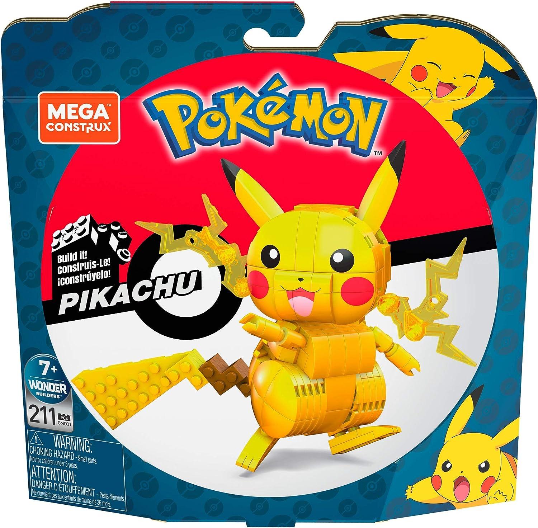 Mega Construx GMD31 - Pokémon Medium Pikachu (10cm), Bauset mit beweglicher  Figur, Spielzeug ab 7 Jahren: Amazon.de: Spielzeug