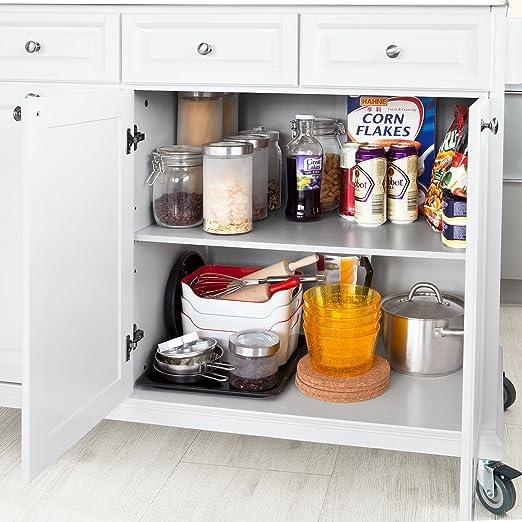 SoBuy® Carrito de cocina con piso de acero, estantería de cocina ...