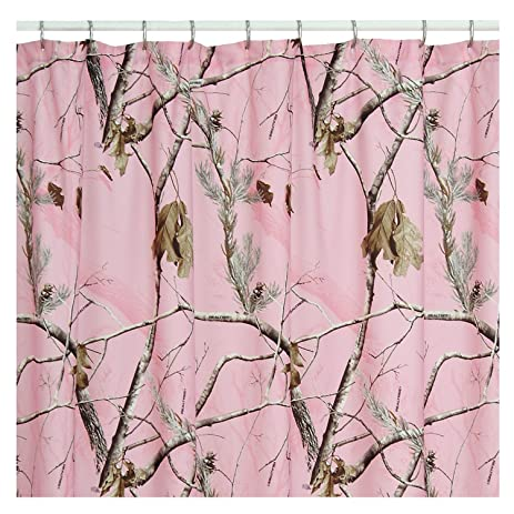 Amazon.com: Realtree AP Pink Shower Curtain, 72 Inch X 72 Inch ...
