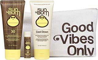 product image for Sun Bum Premium Day Tripper | Travel-Sized Sun Care Pack with Moisturizing Sunscreen Lotion, Sunscreen Lip Balm and Hydrating Cool Down Lotion | Reef Friendly Broad Spectrum UVA/UVB Protection, Basic