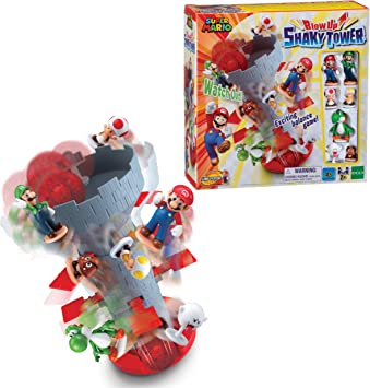 EPOCH Super Mario Blow Up! Shaky Tower: Amazon.es: Juguetes y juegos