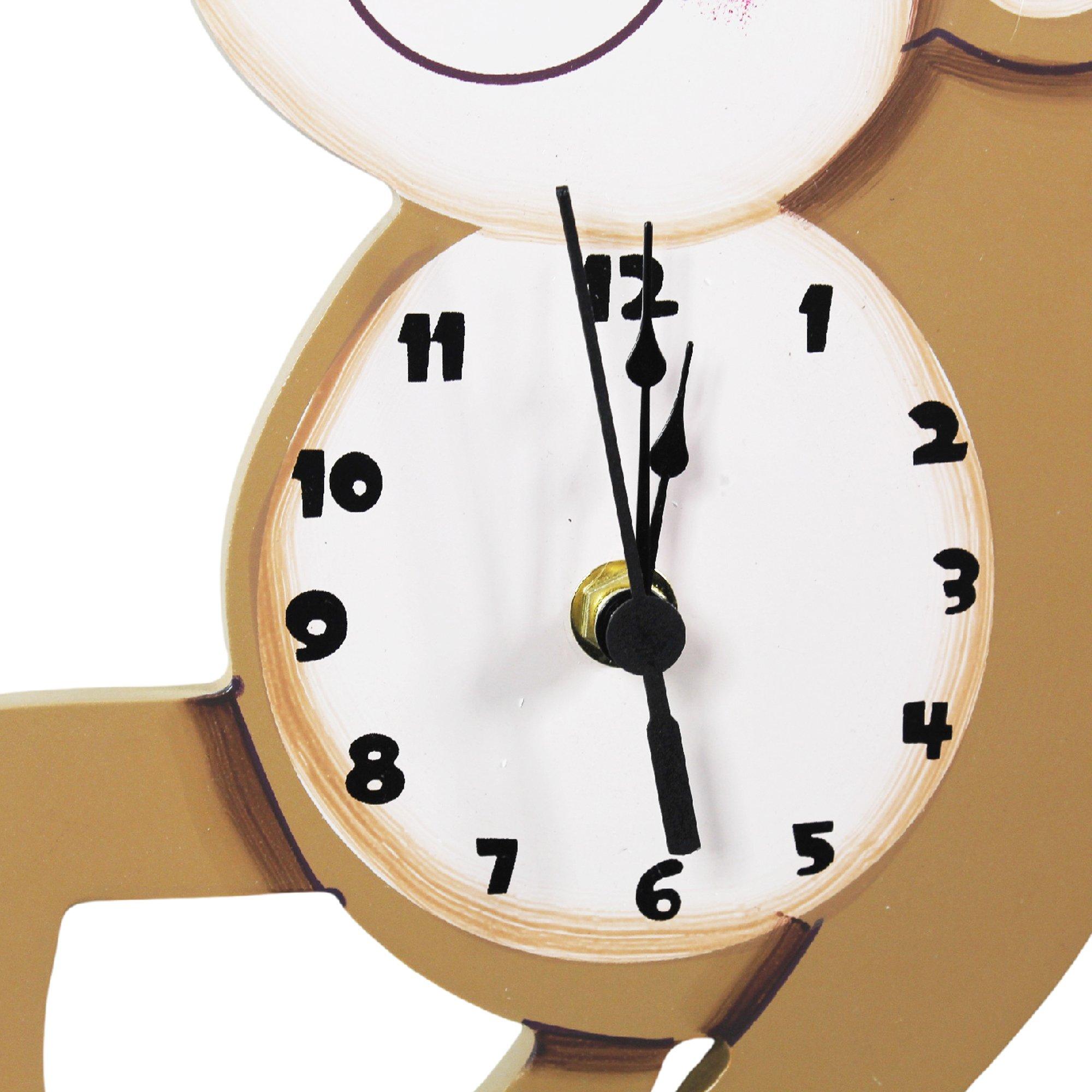 Fantasy Fields Sunny Safari Kids Wall Clock, Brown/Monkey by Fantasy Fields (Image #5)