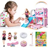 Gili Little Girls Dolls & Playset, Princess Toys for Girls 4 yr-8yr| Dolls Playground Set with Funny Accessories| Best Pretend Play Gifts for Girls Age 4, 5, 6, 7 and Up