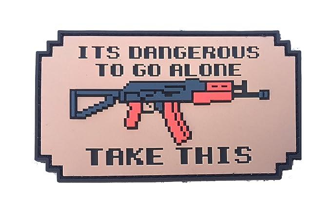 amazon com patriot patch co it s dangerous to go alone patch ak