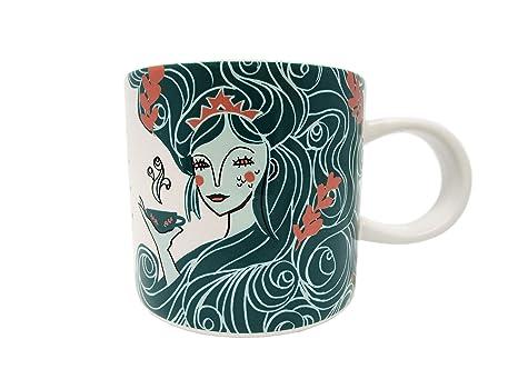 Starbucks Holiday 2018 Aqua Siren Mermaid Ceramic Mug 12 Oz