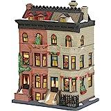 Department 56 Christmas in The City Village Upper Westside Brownstones Lit Building, 9.45 Inch, Multicolor