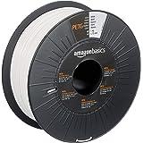Amazon Basics PETG 3D Printer Filament, 1.75mm, White, 1 kg Spool