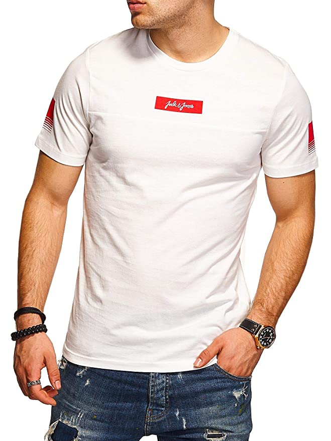 JACK & JONES Camiseta para Hombre T-Shirt Shirt Top Casual ...