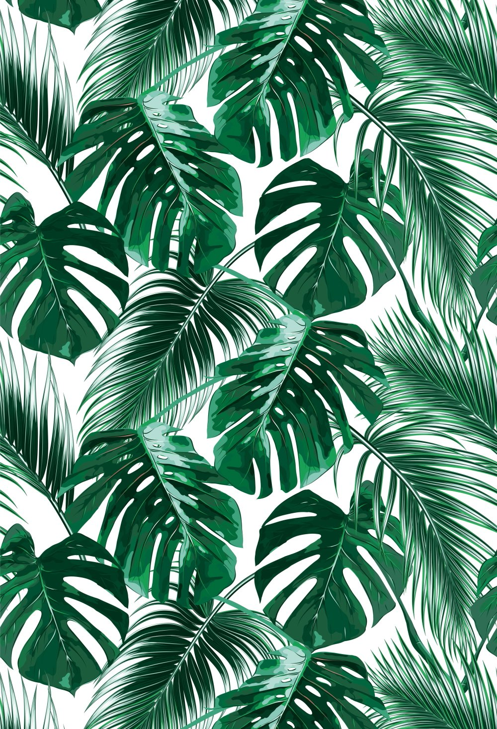 Muzi Tropical palm summer party Photography Backdrops Green Banana Leaves  Floral Wall Backdrop Wedding Stage Background Cotton Polyester Photo Studio