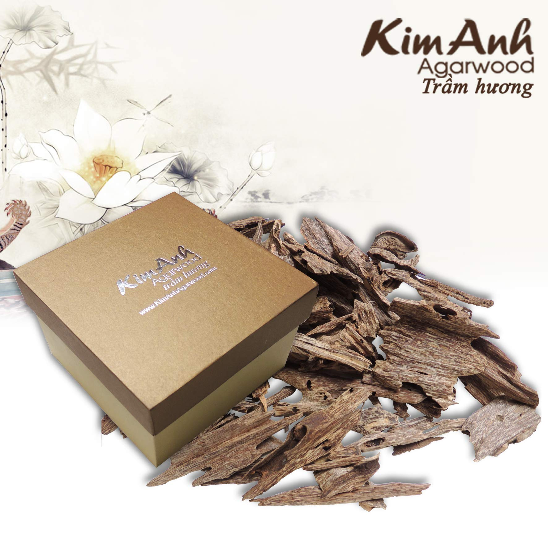 Kim Anh Agarwood chips - Vietnam natural agarwood chips - Pure high quality Agarwood Aloeswood chips - Oud wood chips - Oudh chips for - charcoal or electric incense burner- 30g by Kim Anh Agarwood (Image #3)