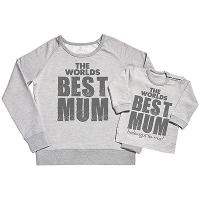 SR - The Worlds Best Mum Belongs To Me Femme Sweatshirt - Cadeau pour maman - Ensembles de pour Mère et bébé