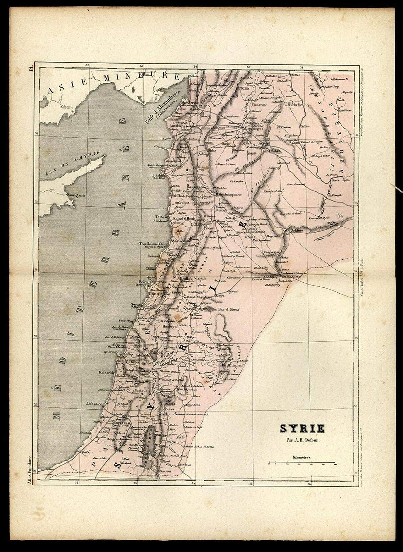 Amazon.com: Syria Middle East Mesopotamia 1855 Dufour ...