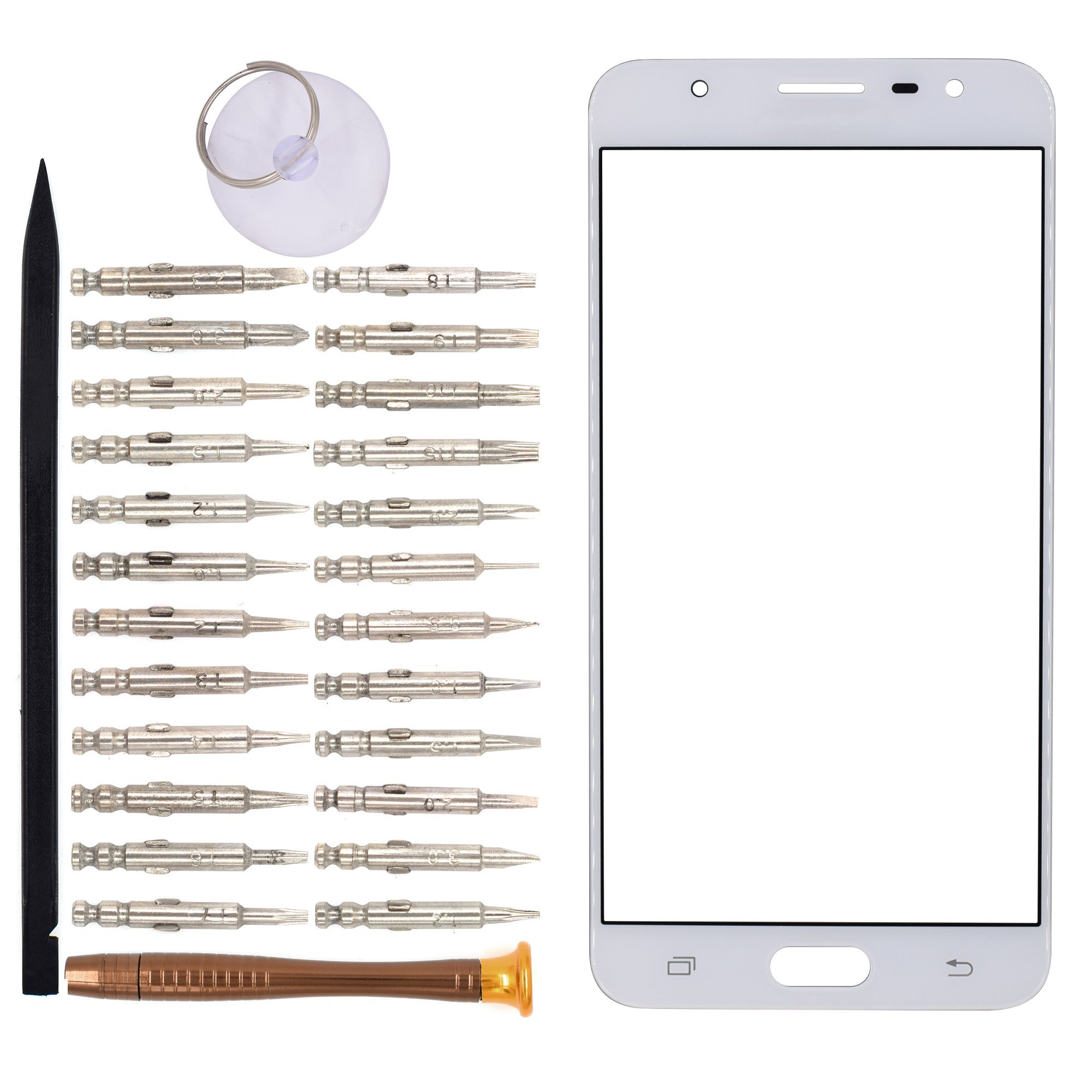 Vidrio Frente para Samsung Galaxy On7 blanco [GOODYITOU]