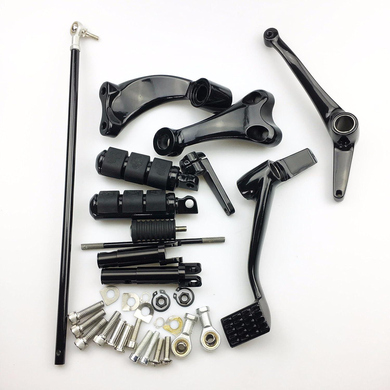 /2017/ Reposapi/és Cromado Harley Forward Control Kit palancas Linkage Sportster 883/1200/y de mando delanteras 2014/