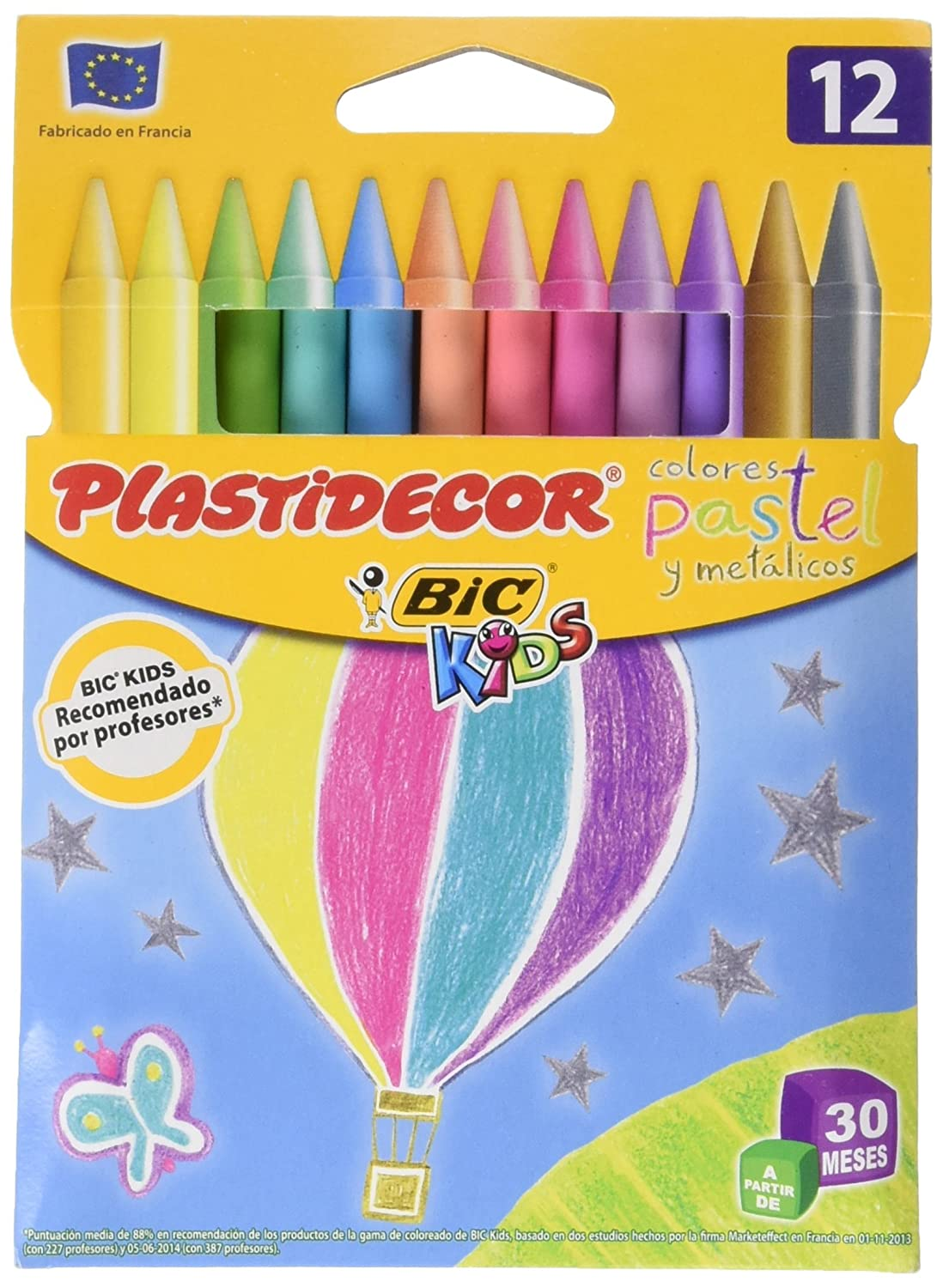 Bic Plastidecor Assorted Colored Crayons (Pack of 24) BIC IBERIA 920301
